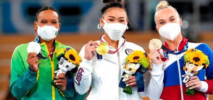 拜尔斯退赛后 美国亚裔选手获体操女子全能冠军