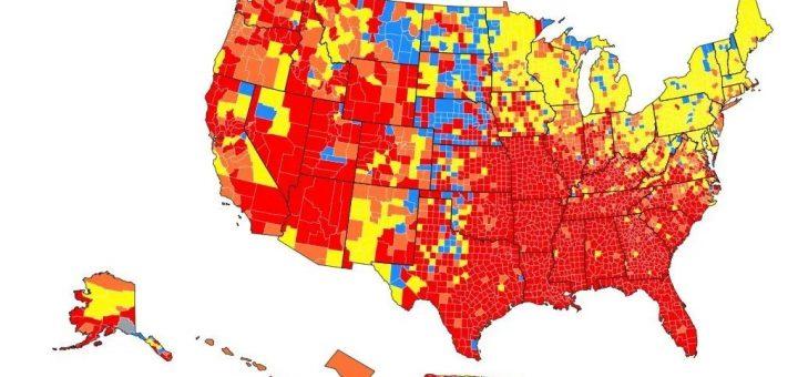 CDC称全美70%郡都应在室内戴口罩 已接种疫苗者接触后也应检测