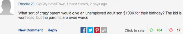 失业3年父母给百万生活费,华裔男抱怨父母给钱太多造成压力大,网友:这是病,得治