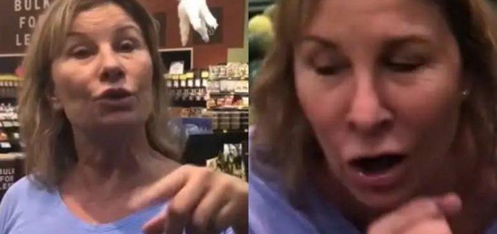 视频疯传! 年薪$20万精英大妈逛超市 怼路人脸狂咳嗽 被骂还笑着尾随 贱到极致!